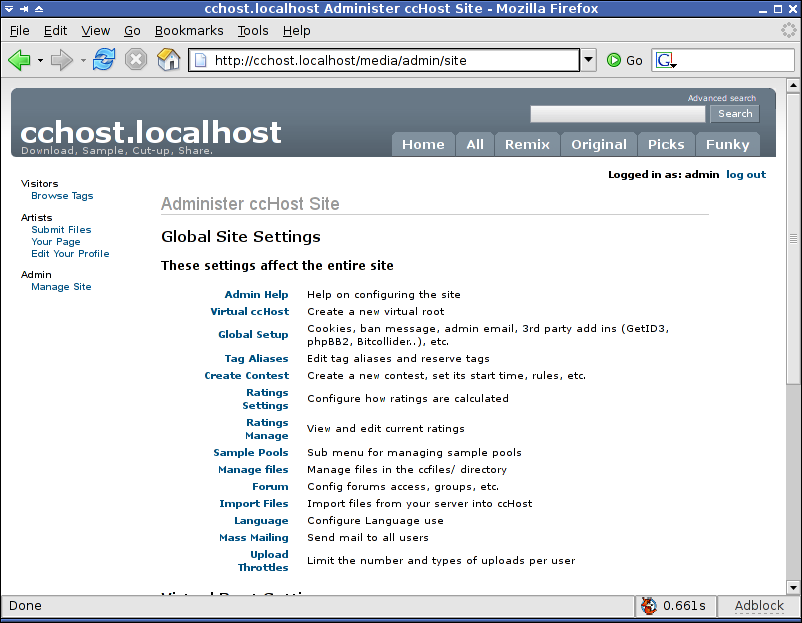 Cchost-3.0SVN-manage.png