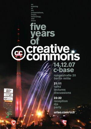 Flyer Creative Commons Jubiläumsparty