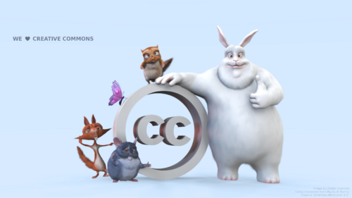 The Big Buck Bunny characters promoting CC